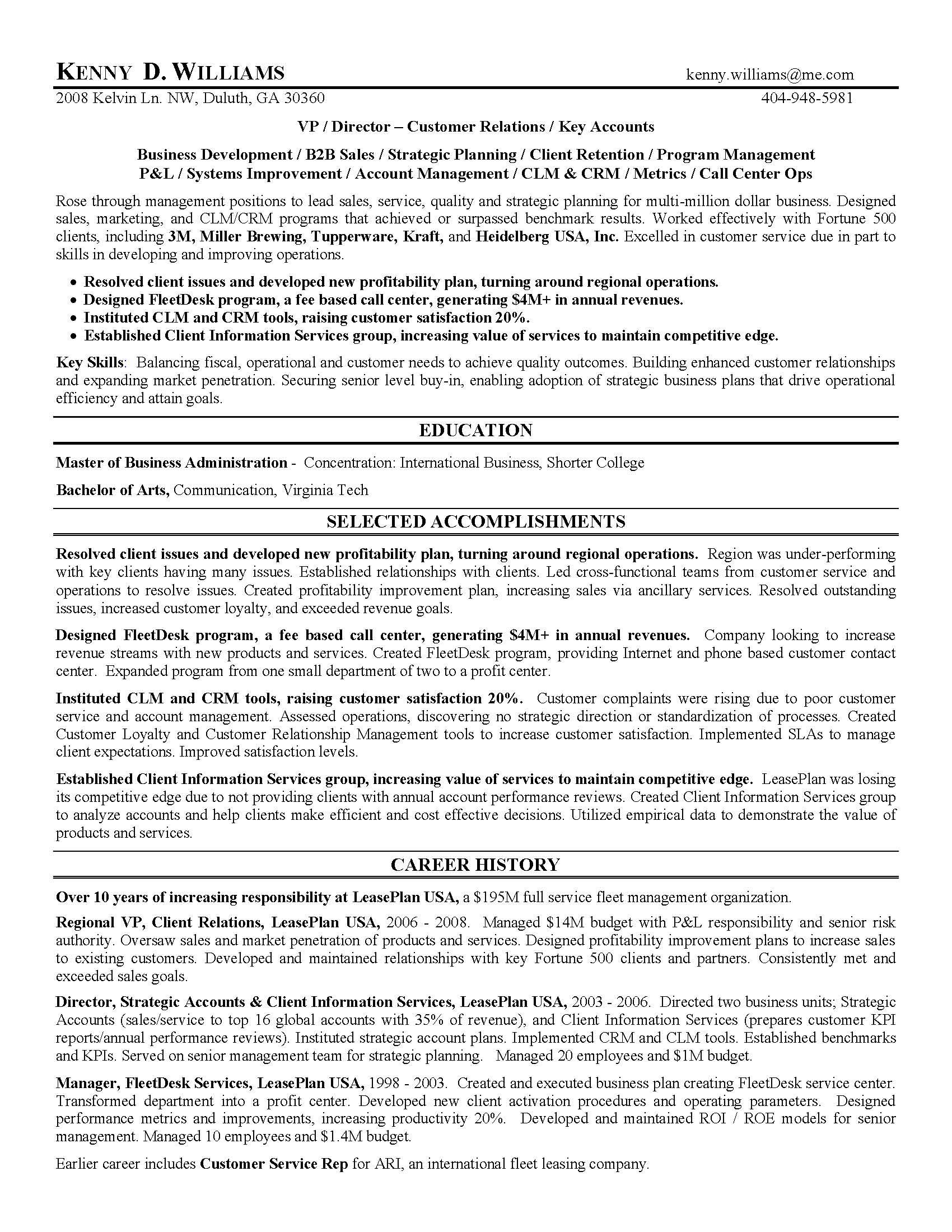 Sales Professional Resume